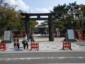 筥崎宮入口